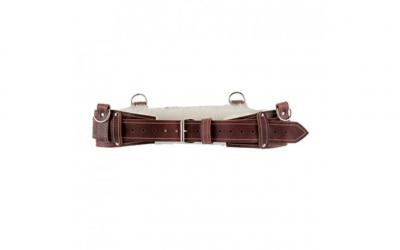 Burgundy Sheepskin Lined Back Support Belt SPECIAL ORDER - 1/pack