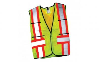 HIVIS Lime 5-Point Tear Away Mesh Safety Vest - 1/pack