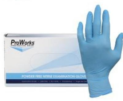 5mil Nitrile Exam Blue Powder Gloves