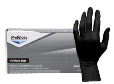5mil Nitrile Exam Gloves Powder Free (Black)