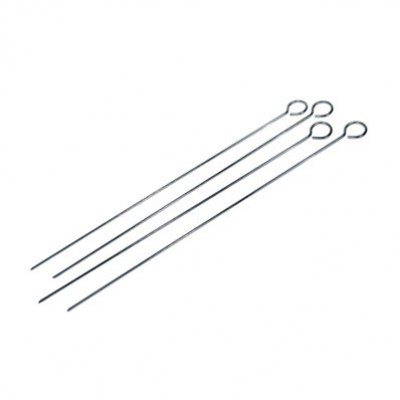 "4 Pc. 15"" stainless steel skewers"