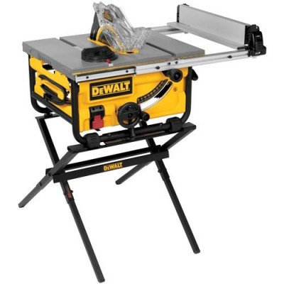 "10"" Compact Job Site Table Saw with Site-Pro Modular Guarding System and Stand"