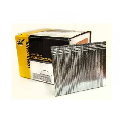 "2-1/2"" x 16GA Galvanized Finish Nails (Brad 16) - Box of 2500"