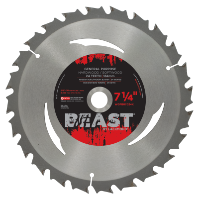 "7-1/4"" General Purpose Blades With Anti-Kick Tooth - BEAST Series"