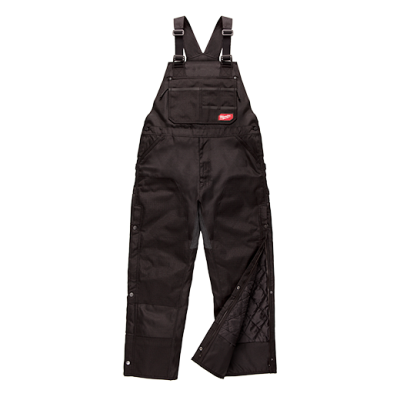 GRIDIRON™ Zip-to-Thigh Bib Overall - Black - Small Short
