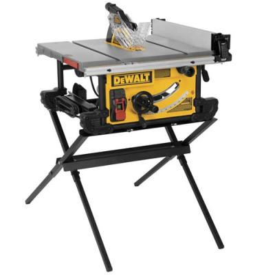 10 in. Job Site Table Saw with Scissor Stand