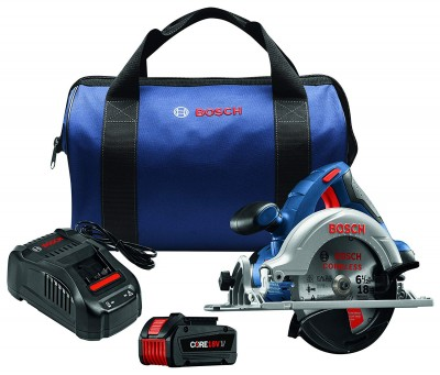 """18V 6-1/2"""" Circular Saw Kit with CORE18V Battery, Blue"""