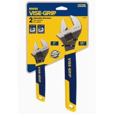 "2 Pc. Adjustable Wrench Set - 6"" &"