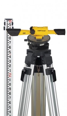 Speed Line 20X Transit Level Package with Horizontal Circle, Tripod, Rod, and Carrying Case