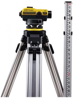 20X Auto Level Kit with Tripod and Rod