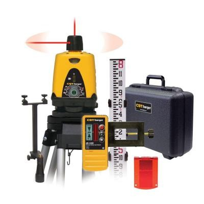 Manual Rotary Laser Horizontal and Vertical Package with Detector, Tripod & Rod