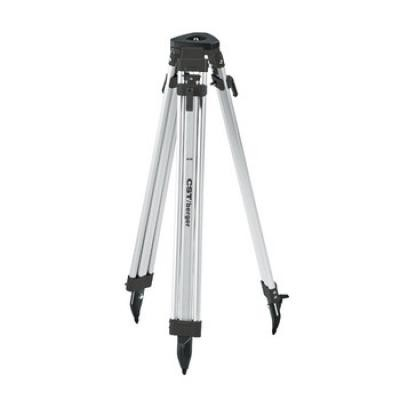 63 in. Quick-Clamp Aluminum Flat Head Contractor's Tripod (Black)