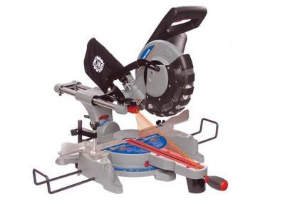 "10"" Sliding Dual Compound Miter Saw with Twin Laser"