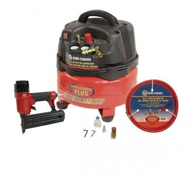 "2 HP Air Compressor (8491) & 2"" Brad Nailer (8200N) Combo Kit"
