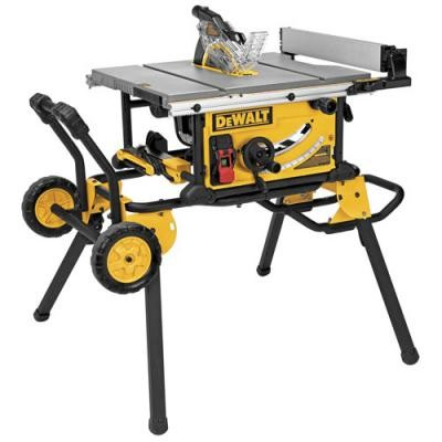 10 in. Jobsite Table Saw w/ Rolling Stand (DW744XRS replacement)