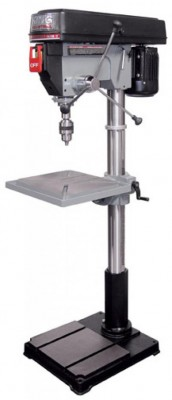 "16 Speed - 22"" Drill Press with Safety Guard"
