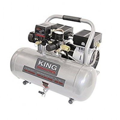 Ultra-Quiet Oil-Free Air Compressor 1.6 Gal