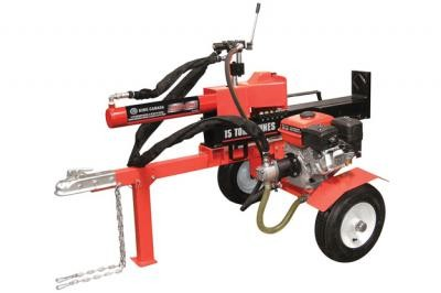 15 Ton Horizontal - Vertical 6.5 HP Gas Log Splitter