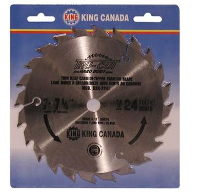 "7 1/4"" Tungsten Carbide Tipped ""HARD PLATE"" Saw Blade ""Framing"""