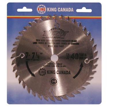 "7 1/4"" Tungsten Carbide Tipped ""HARD PLATE"" Saw Blade ""Finishing"""