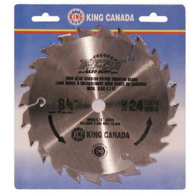 "8 1/4"" Tungsten Carbide Tipped ""HARD PLATE"" Saw Blade ""Framing"""