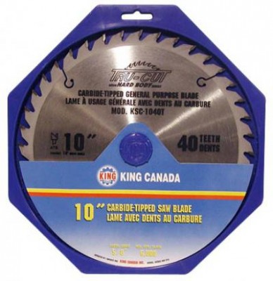 "10"" Tungsten Carbide Tipped ""HARD PLATE"" Saw Blade ""General Purpose"""