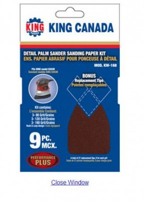 Sanding Paper Kit (9 Pc) / Fits 8303N