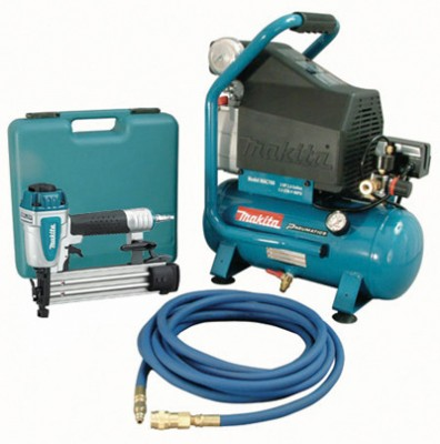2 H.P Air Compressor And Brad Nailer Kit