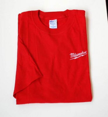 Cotton T-Shirt (Red-Large)