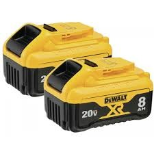 20V MAX* 8Ah XR® Lithium Ion Battery (2 pack)